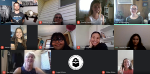 Participants in a Zoom call.