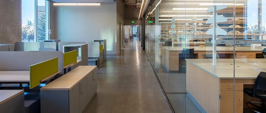 The interior of WSU Pullman's new Plant Sciences Building.