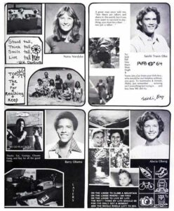 A high school yearbook page