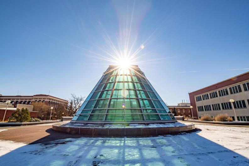 Sun shines through Terrell Dome on WSU Pullman campus