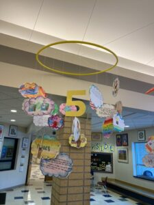 A piece of artwork made by Sunnyside elementary students