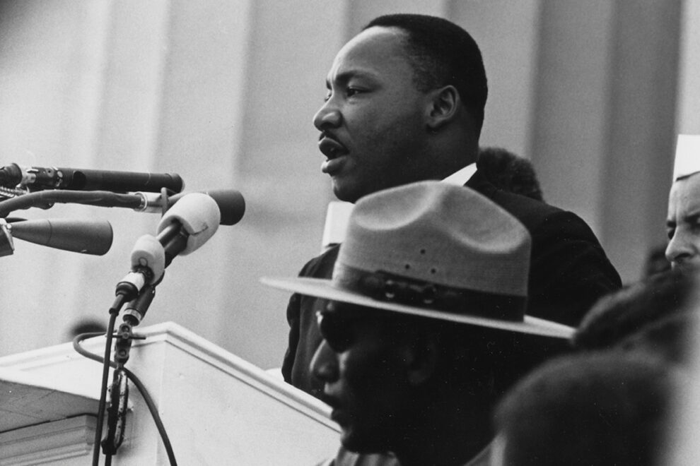 Dr. Martin Luther King, Jr. delivering his I Have a Dream Speech