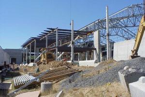 Closeup of the SRC under construction