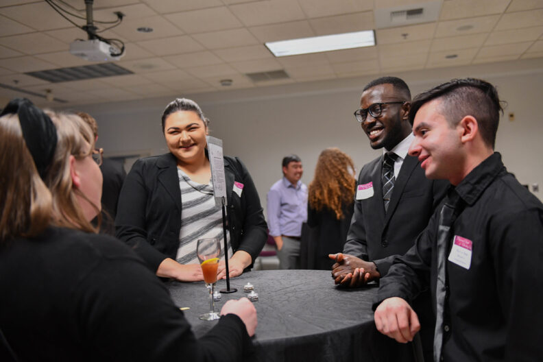 WSU Tri-Cities students at a career networking event