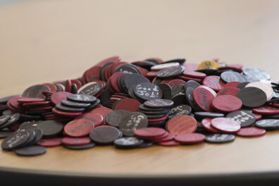 A pile of tokens