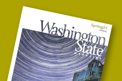 Cover of Spring 2021 issue of Washington State Magazine.