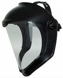 A face shield.