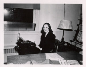 An old photograph shows Lorraine Kure