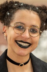 Closeup of Samantha King-Shaw