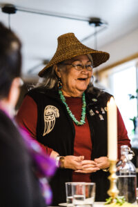 Closeup of Pacific Northwest Native elder