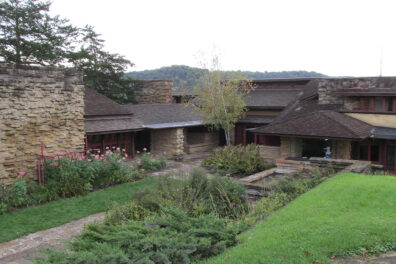 A home designed by Frank Lloyd Wright in Wisconsin.