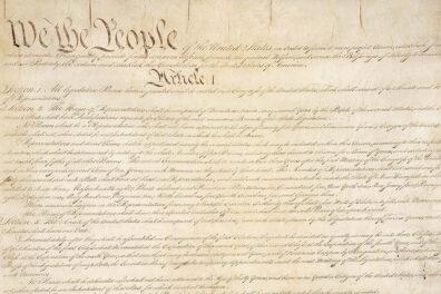 Closeup of the U.S. constitution