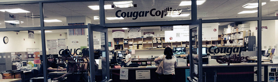 CougarCopies store front light