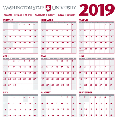 Wsu 2019 Calendar Place an Order | University Marketing and Communications