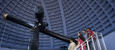 People using large telescope