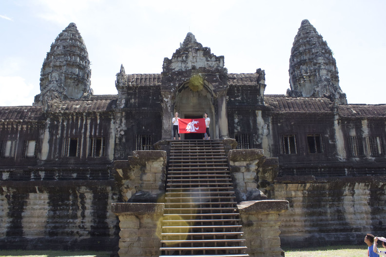 Study Abroad Wave the Flag