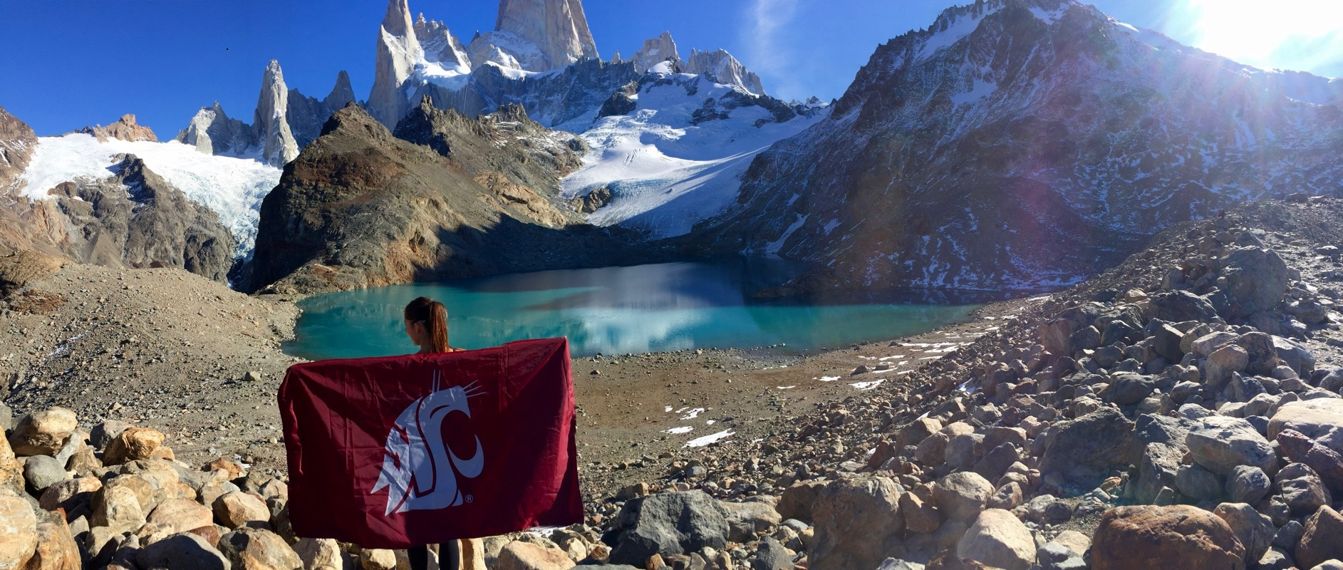Coug flag in Argentina