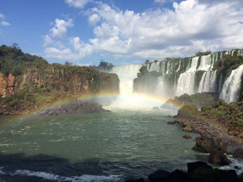 Water falls in Argentina