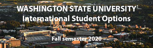 Washington State University International Programs Fall Semester 2020