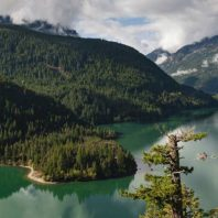 A landscape photo of ross lake