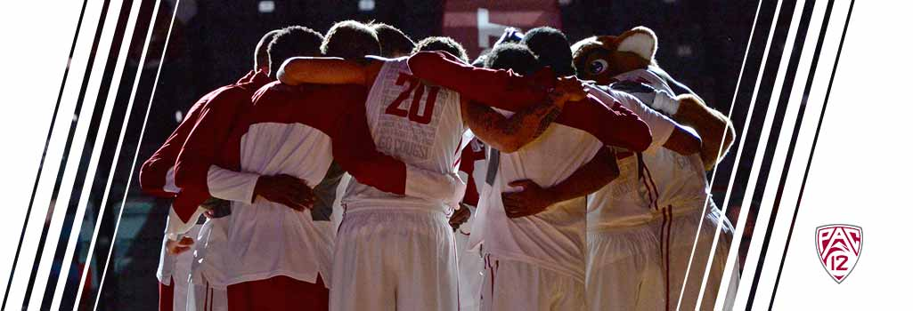 WSU mens basketball team before tip-off