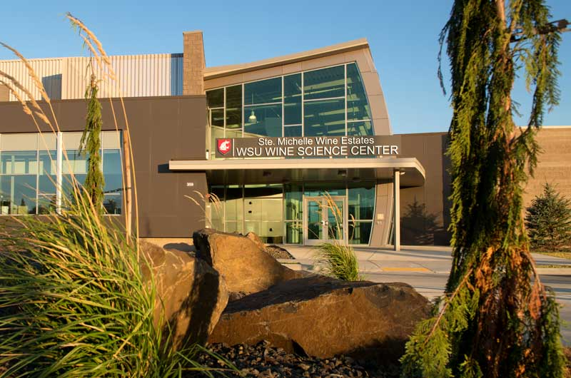 Front entrance of the Ste. Michelle Wine Estates WSU Wine Science Center on teh WSU Vancouver campus
