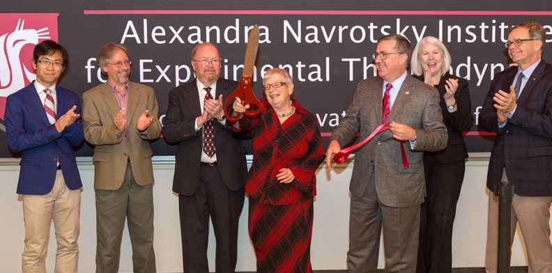 Alexandra Navrotsky Institute for Experimental Thermodynamics ribbon cutting ceremony Wednesday, Sept. 20, 2017 at Wegner Hall in Pullman, Wash.