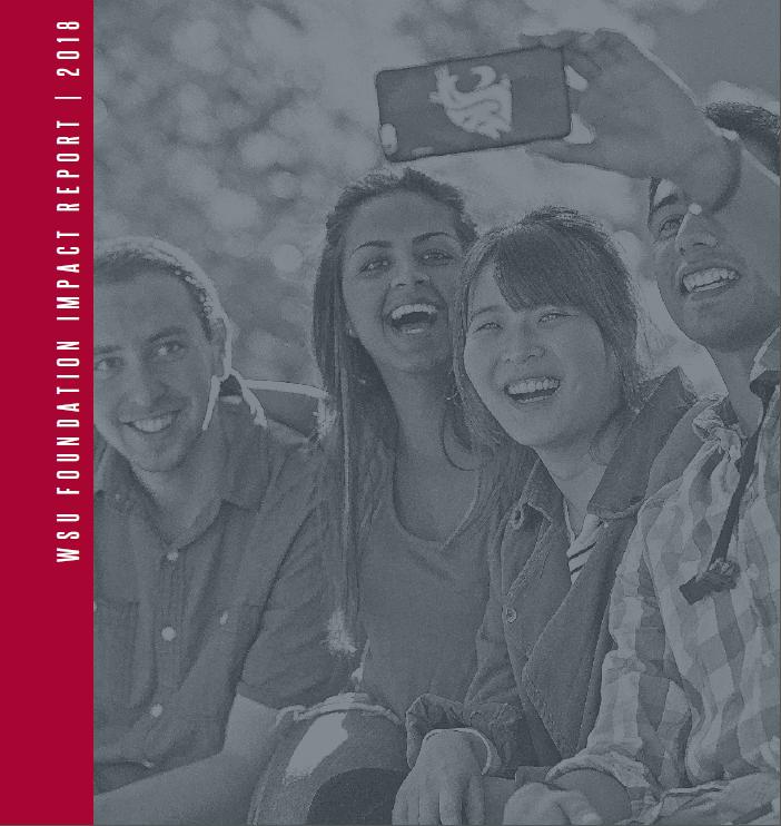 2018 WSU Foundation impact Report Cover Image