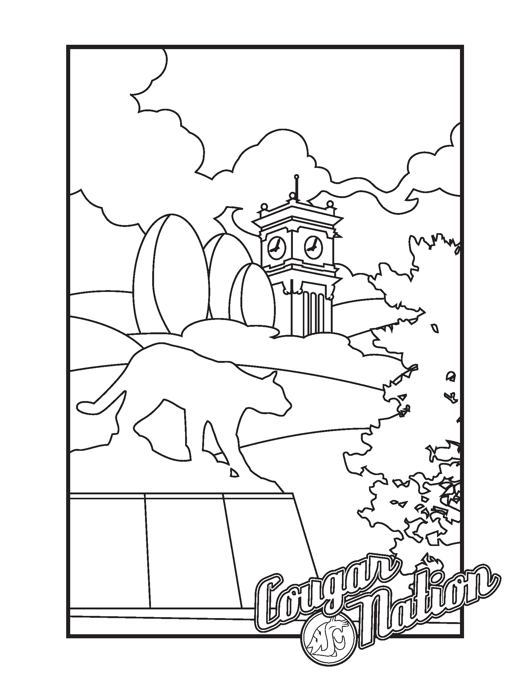 Washington State Tree coloring page | Free Printable Coloring Pages | 2200x1700