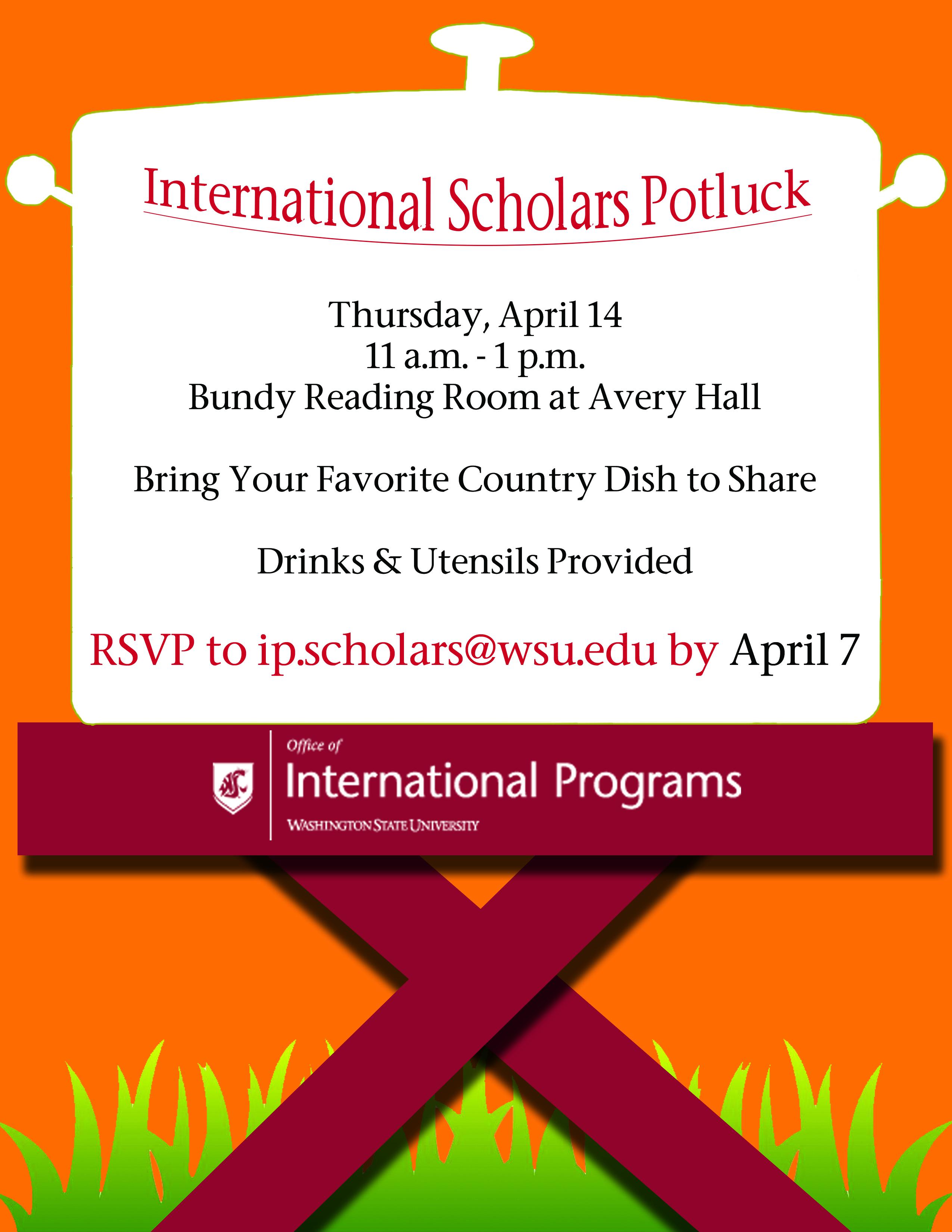 international scholars potluck office of international programs