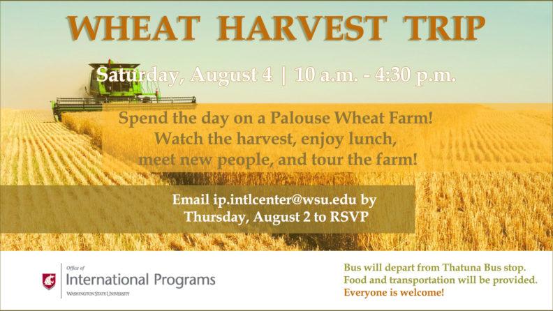 Wheat Harvest Trip Flyer