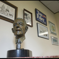 Bust of Thomas Foley and memorabilia
