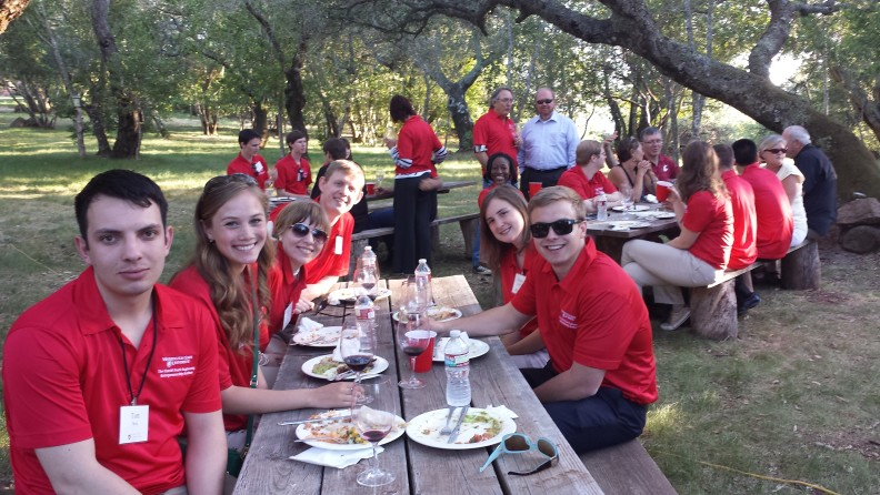Alumnus Brian Wise hosted an authentic Mexican feast for the Frank Scholars' visit to B Wise Vineyard.