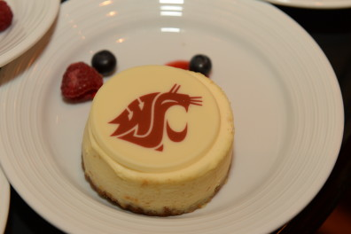 Thanks to Seattle Marriott Waterfront Chef ___ for the Go Cougs cheesecake!