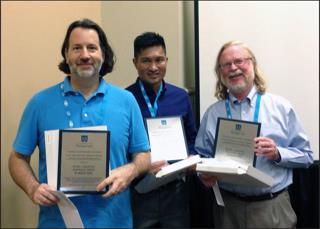 Tom Tripp, left, with co-authors Karl Aquino, University of British Columbia, and Robert Bies, Georgetown University.