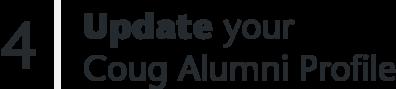4 Update your Coug Alumni Profile