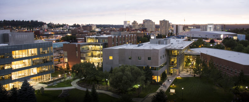 The Spokane campus – pictured above at dusk with downtown in the background – is celebrating its 25th anniversary. Read about some of our outstanding faculty and highlights of the last 25 years.