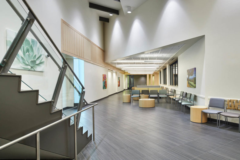 Picture of south lobby of Spokane Teaching Health Clinic