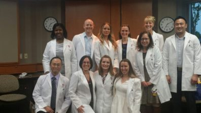 white coat ceremony on 4-13-2016