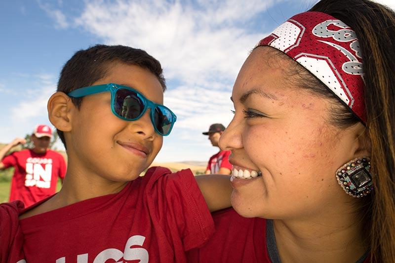 Ellenwood and her son, Terrell