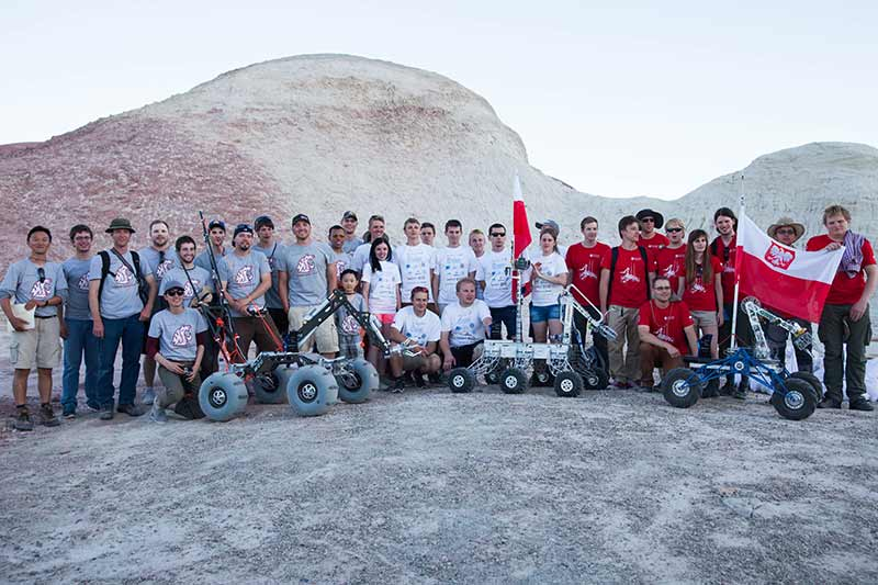 Winning teams of University Rover Challenge