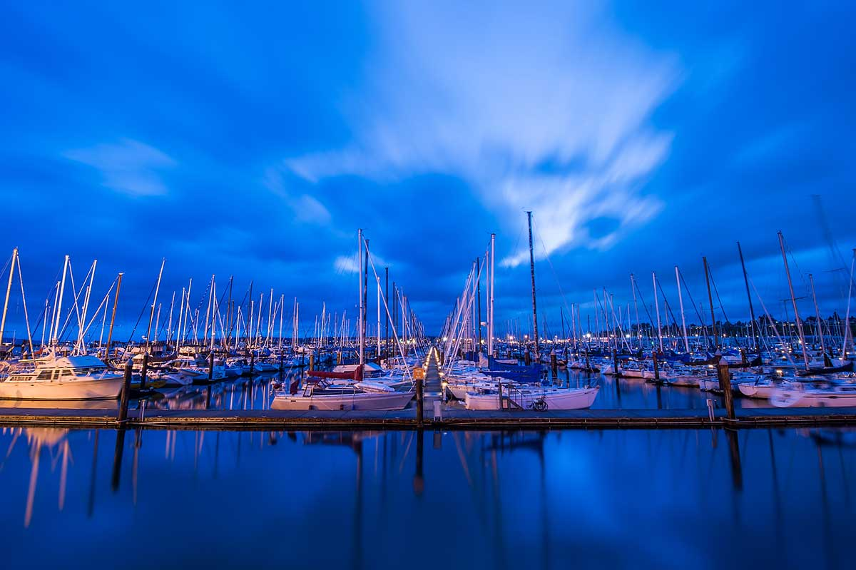 Everett Marina at dusk