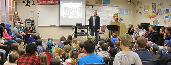 Edwin McLean in the classroom