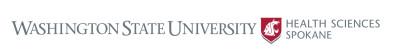 Horizontal logo for WSU Health Sciences Spokane