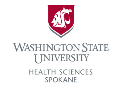 Vertical logo for WSU Health Sciences Spokane