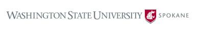 Horizontal logo for WSU Spokane