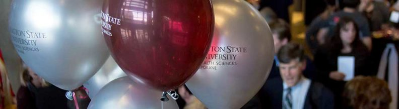 picture of balloons at campus event
