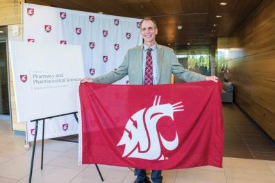 Gary Pollack with Flag
