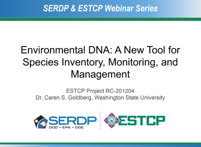 ESTCP webinar title slide