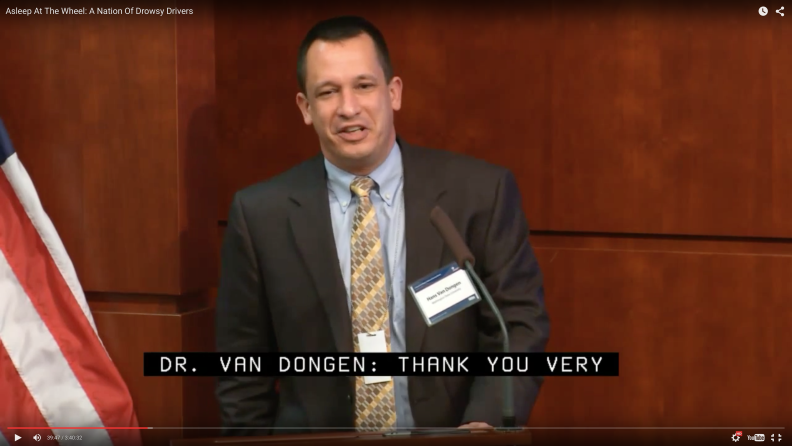 Hans Van Dongen screen shot from NHTSA conference video
